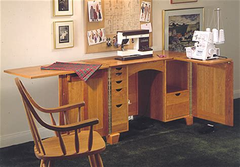 sewing cabinet large format paper woodworking plan from
