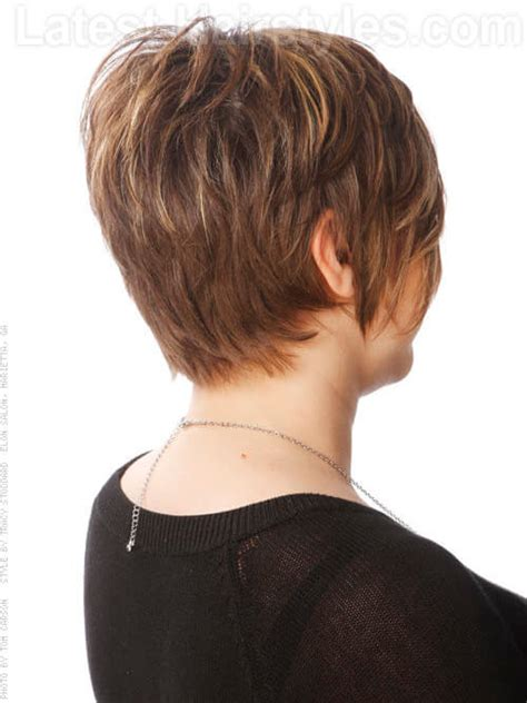 front and back view of long hair styles short layered haircuts for women front and back view www