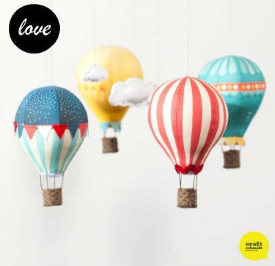 Handmade Air Balloon Decorations by Bondville Craft Schmaft Air Balloon Mobile Diy Craft