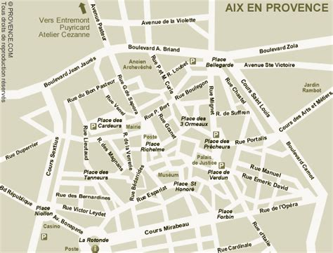 aix en provence map and aix en provence satellite image