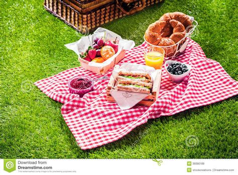 The Ideal Picnic Get It On The High Now by Healthy Picnic For A Summer Vacation Stock Photo Image