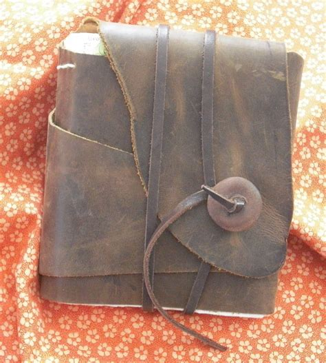 Handmade Leather Journal Tutorial - handmade brown leather journal 183 a leather journal