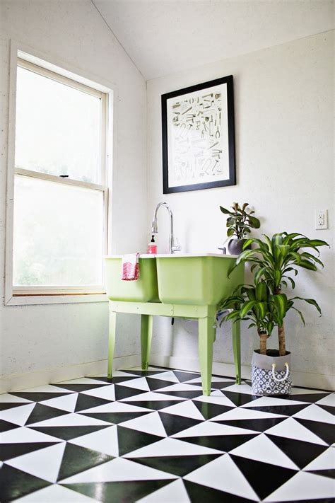funky bathroom tiles bathroom tile make a patterned floor with linoleum tile a beautiful mess