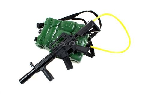 Water Gun With Backpack soldier backpack water gun army m16 gun