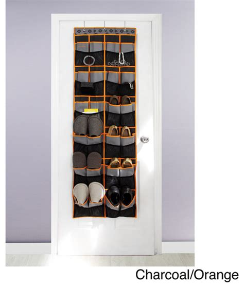 closet door shoe organizer samsonite 24 pocket the door shoe organizer