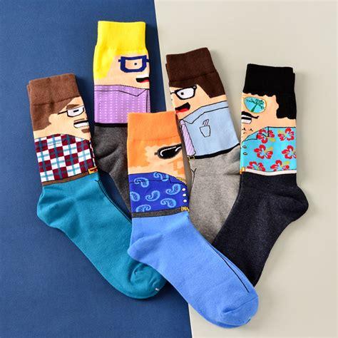 crazy pattern dress socks mens crazy dress socks promotion shop for promotional mens