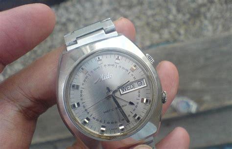 Jam Tangan Metic jam tangan kuno mido matic alarm ca 1972