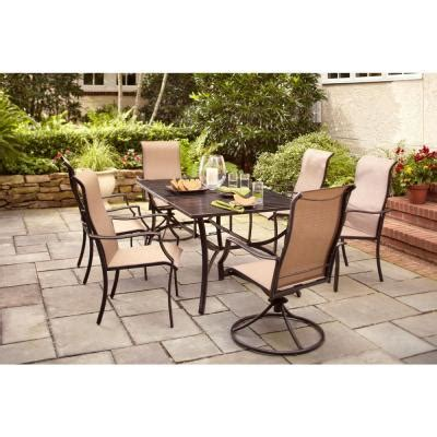 home depot patio dining sets hton bay amica 7 patio dining set xss 1754 the