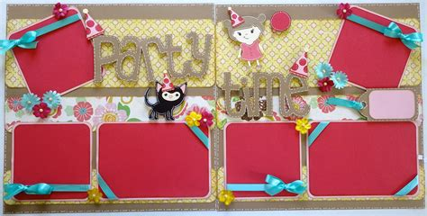 layout for birthday party lauren s creative creative scrapbook layout quot party time quot