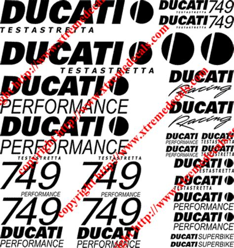 Ducati 749 Sticker by Graphics And Stickers Decals For Ducati 749