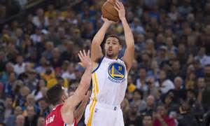 klay thompson klay thompson dressed up his in a klay thompson t shirt for the win
