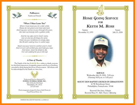 free obituary template 5 free obituary templates for microsoft word hostess resume