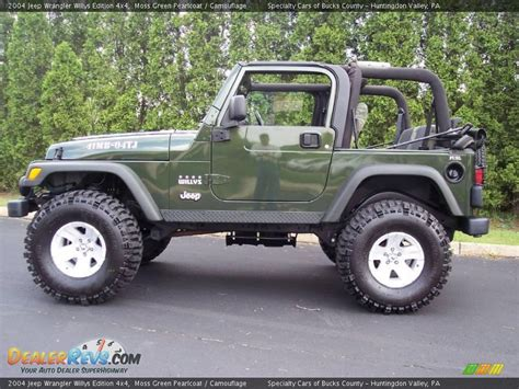 2004 Jeep Wrangler Willys Moss Green Pearlcoat 2004 Jeep Wrangler Willys Edition 4x4