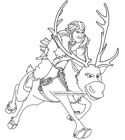 kristoff and sven coloring ws az coloring pages