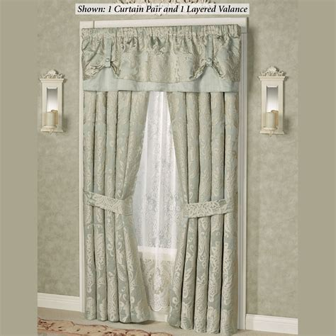swag shower curtain attached valance coffee tables white swag valance double swag shower