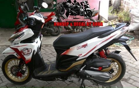 Garnish Dan Cover Centre Merah Honda Vario 125 150 Original modifikasi minimalis honda vario 150 esp white marc