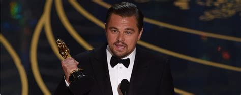 oscar best actor leonardo dicaprio wins best actor acceptance speech for