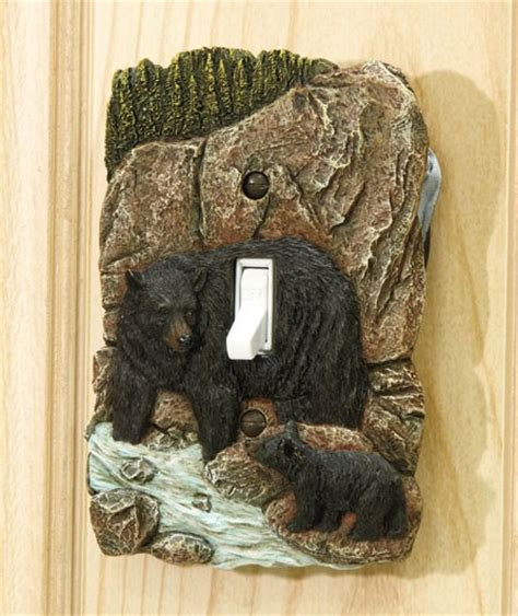 Cabin Decor Outlet by Rustic Wildlife Lodge Log Cabin Decor 3d Outlet Or Light
