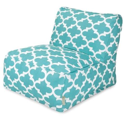 buy majestic home  teal trellis bean bag chair lounger  contemporary furniture