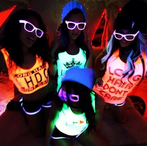 hairstyles for neon party glow in the dark party outfit www imgkid com the image