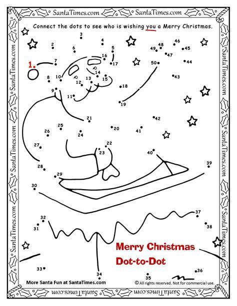 dot to dot christmas pictures merry dot to dot