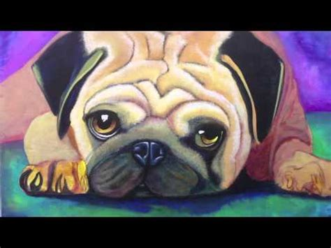 pug paint how i paint a pug using acrylic part 2
