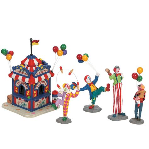 lemax village collection set of 5 carnival ticket booth