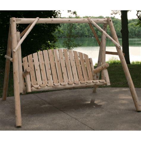 cedar log swing cedar outdoor log swing cedar garden swing