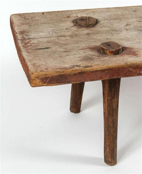 primitive benches furniture primitive farm bench at 1stdibs