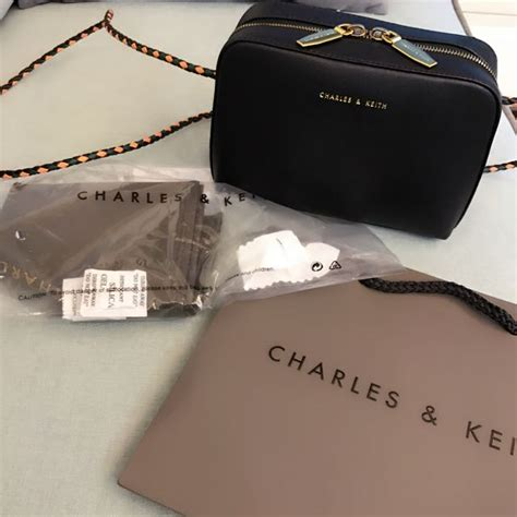 Zip Sling Bag charles keith duo zip sling bag black s fashion