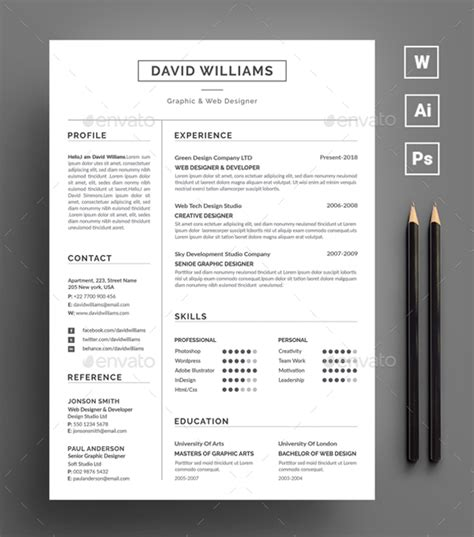 Adobe Resume Template by 20 Best Professional Indesign Resume Cv Template 2018
