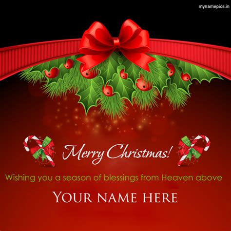 write   santa claus blessings christmas greeting