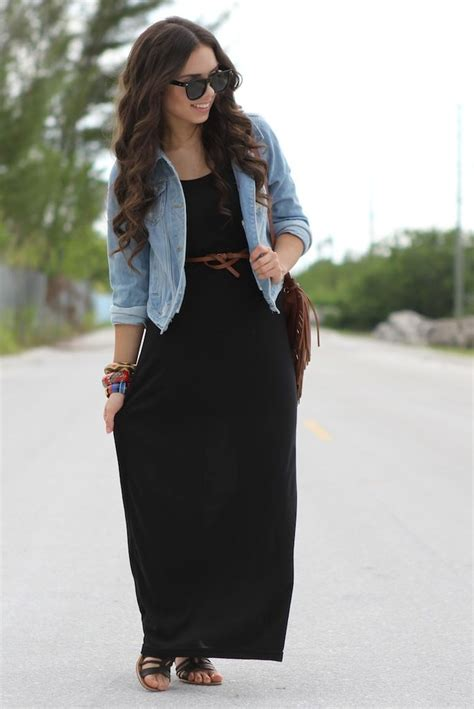 Maxi Dress Brown With Belt black maxi dress it with the brown belt and sandals