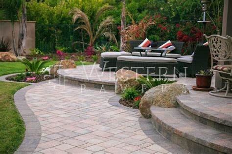 San Diego Pavers Raised And Sunken Patio Gallery By Raised Paver Patio Designs