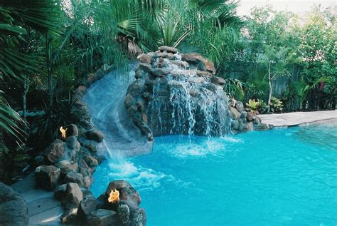 pool designs with slides pool slide design designs with slides and waterfalls