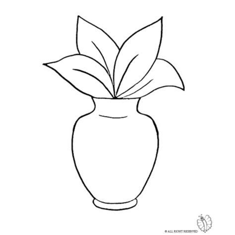 vasi di fiori da colorare disegno di vaso con pianta da colorare per bambini