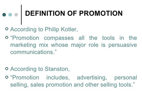 Sales Promotion Letter Meaning Promotion