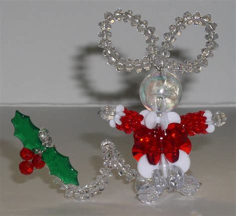 beaded ornament kits simple mouse with plastic or acrylic a