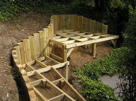 the 2 minute gardener garden elements landscape timber a good way to bridge to the hill landscaping pinterest