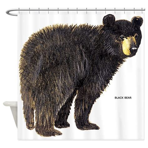 black bear shower curtains black bear shower curtain by animalartwork