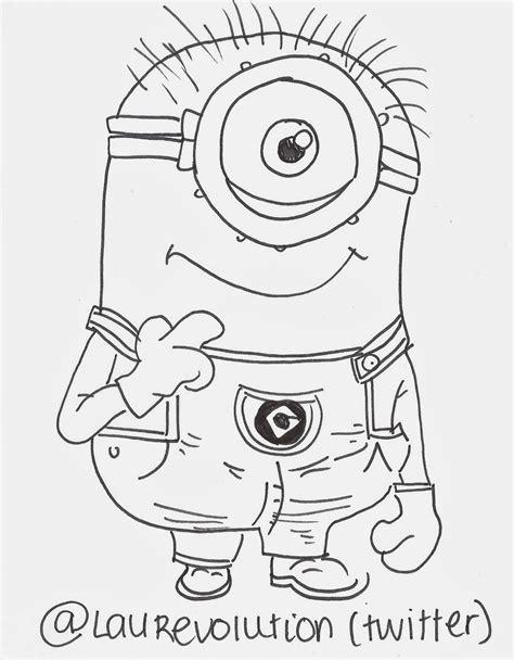 minion carl coloring page minion carl drawing