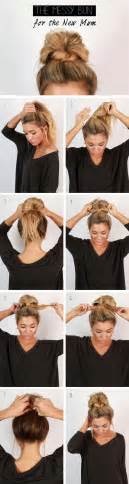 cool easy step hairstyles cool and easy diy hairstyles messy bun quick and easy