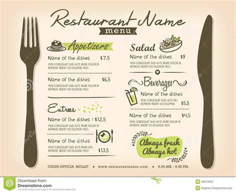 trendy restaurant menu background to any creative modern design