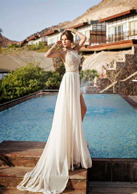 hochzeitskleid israelische designerin brautkleid mit neckholder dekollet 233 tailliert mit g 252 rtel