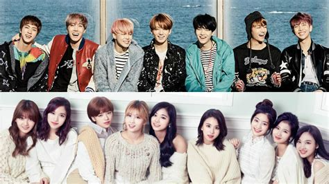 twice and bts bts and twice voted the nation s boy and girl group
