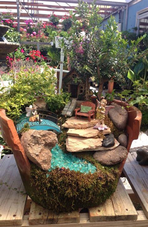 garden in a broken terra cotta pot rainbow gardens