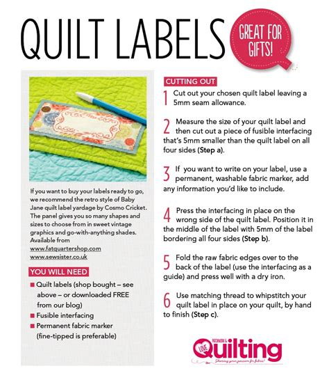 free quilt labels printable love patchwork quilting