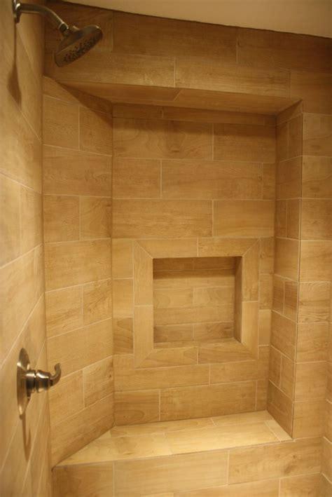 faux wood tile bathroom 17 best images about wood tile shower on pinterest