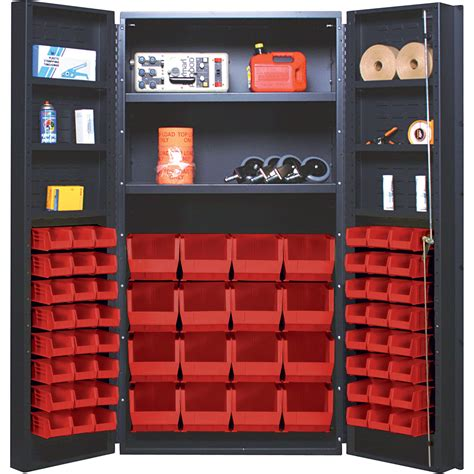 Quantum Storage Cabinet Quantum Storage Cabinet With 64 Bins 36in X 24in X 72in Size Northern Tool Equipment