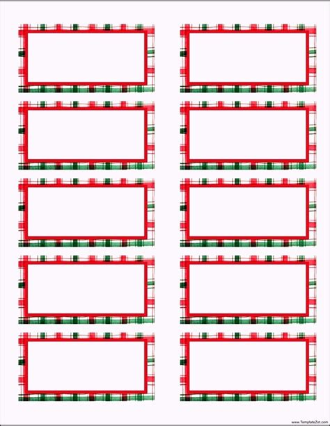 free christmas address labels templates templatezet